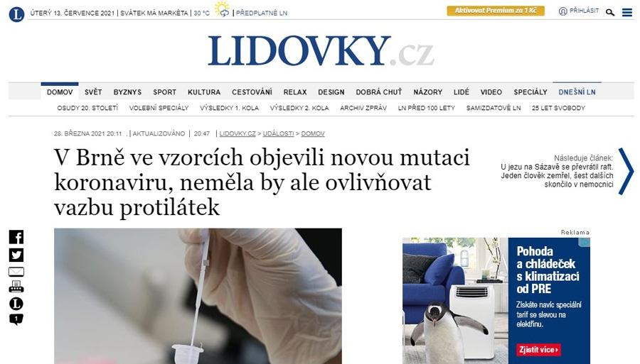 V Brně ve vzorcích objevili novou mutaci – vážně?! Dopis Omarovi Šerému